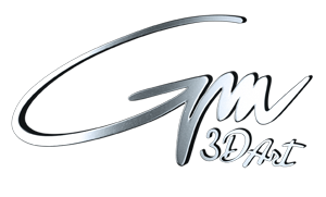 GM 3D Art Retina Logo